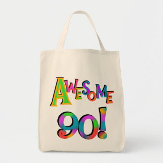 Awesome 90 Birthday T-shirts and Gifs Tote Bag