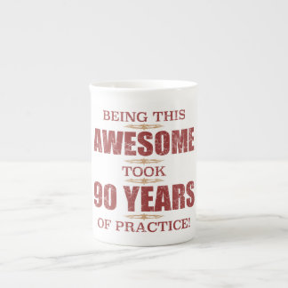 Awesome 90th Birthday Tea Cup