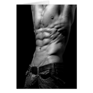 Awesome Abs Notecard Greeting Card