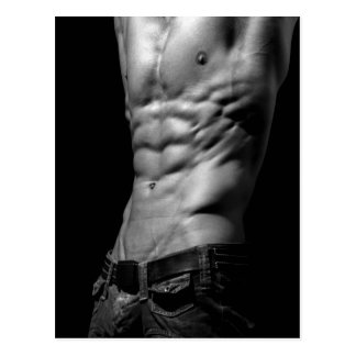 Awesome Abs Postcard