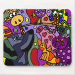 Awesome Abstract Animals Art Mouse Pad