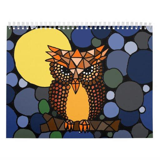 Calendar Abstract Art : Awesome abstract art calendar zazzle