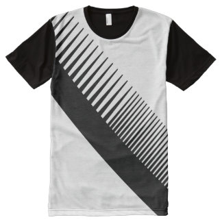 Awesome Abstract Black Comb Graphic Barbershop All-Over-Print T-Shirt