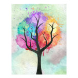 Awesome abstract pastel colours oil paint tree custom flyer