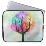 Awesome abstract pastel colours oil paint tree laptop computer sleeves