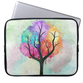 Awesome abstract pastel colours oil paint tree laptop sleeve