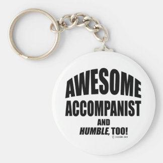 Awesome Accompanist Basic Round Button Keychain