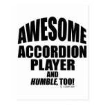 Awesome Accordion Player Post Card