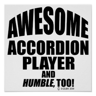 Awesome Accordion Player Poster
