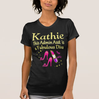 AWESOME ADMIN ASST DIVA PERSONALIZED T SHIRT