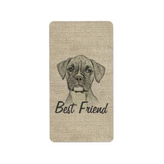 Awesome  adorable funny trendy boxer puppy dog address label