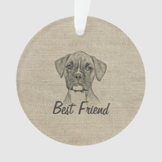 Awesome  adorable funny trendy boxer puppy dog ornament