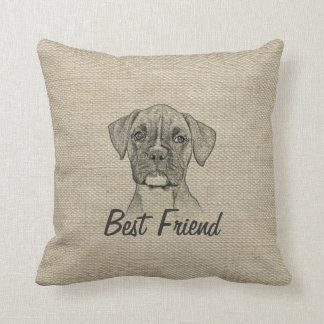 Awesome  adorable funny trendy boxer puppy dog pillow