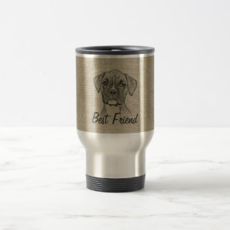 Awesome  adorable funny trendy boxer puppy dog travel mug