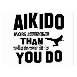 awesome  aikido design postcard