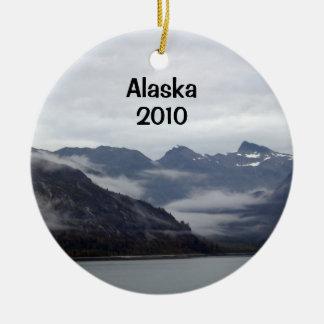 Awesome Alaska! Double-Sided Ceramic Round Christmas Ornament