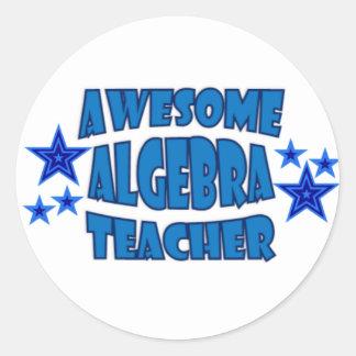 Awesome Algebra Teacher Classic Round Sticker