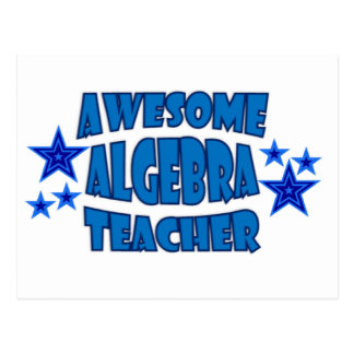 Awesome Algebra Teacher Postcard