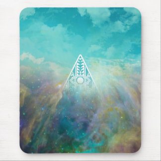 "Awesome ""All seeing eye"" triangle Orion nebula Mouse Pad"