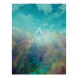 """Awesome """"All seeing eye"""" triangle Orion nebula Print"""