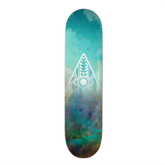 "Awesome ""All seeing eye"" triangle Orion nebula Skate Board Deck"