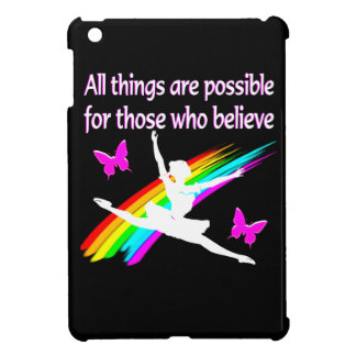 AWESOME ALL THINGS ARE POSSIBLE BALLERINA DESIGN CASE FOR THE iPad MINI