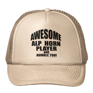 Awesome Alp Horn Player Trucker Hat