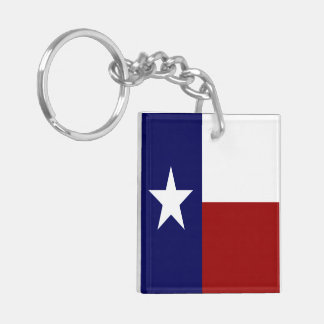 Awesome American And Texas Flags Patriotic Keychain