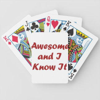 Awesome and I Know It! Bicycle Playing Cards