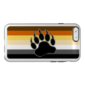 Awesome and Very Cool Bear Pride Flag Bear Paw Incipio Feather® Shine iPhone 6 Case