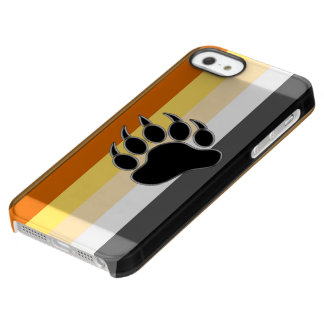 Awesome and Very Cool Bear Pride Flag Bear Paw Permafrost® iPhone SE/5/5s Case