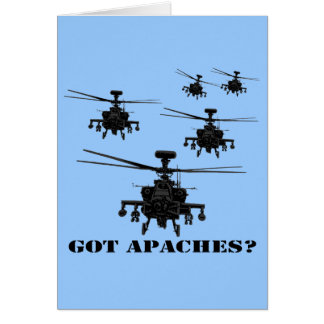 Awesome Apache helicopter Greeting Cards
