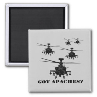 Awesome Apache helicopter Magnet