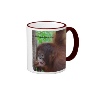 "Awesome Ape: You Need ""Me"" Ringer Coffee Mug"