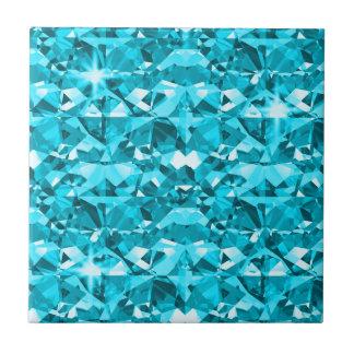 Awesome Aqua Diamonds Small Square Tile