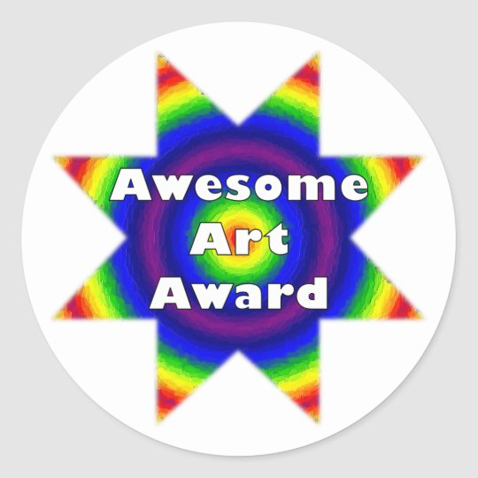 Awesome Art Award Classic Round Sticker