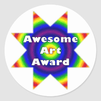 Awesome Art Award Stickers