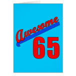 Awesome at 65 Years Old Greeting Card