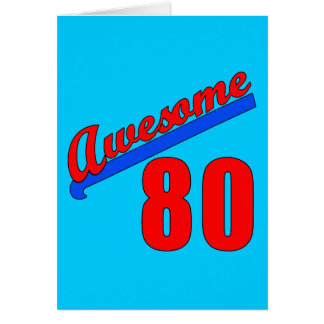 Awesome at 80 Years Old 80th Birthday Greeting Card