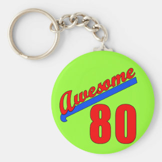 Awesome at 80 Years Old 80th Birthday Keychain