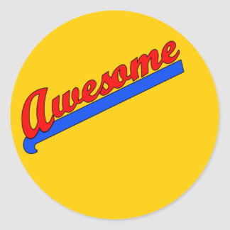Awesome at Any Age! Customize This Classic Round Sticker