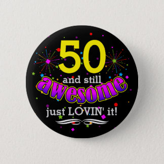 Awesome at (Your Age) Birthday Girl Pinback Button