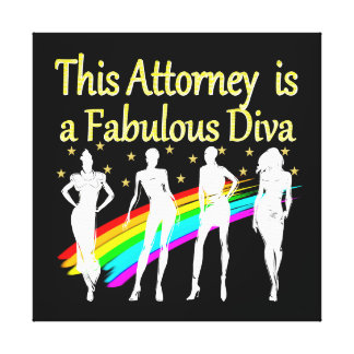 AWESOME ATTORNEY PARTY GIRL DESIGN CANVAS PRINT
