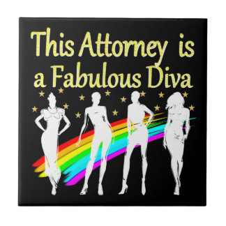 AWESOME ATTORNEY PARTY GIRL DESIGN CERAMIC TILE