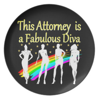 AWESOME ATTORNEY PARTY GIRL DESIGN MELAMINE PLATE