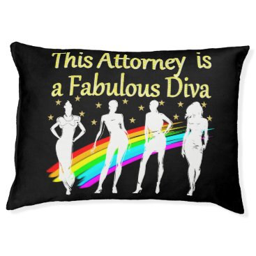 Lawyer Themed AWESOME ATTORNEY PARTY GIRL DESIGN PET BED