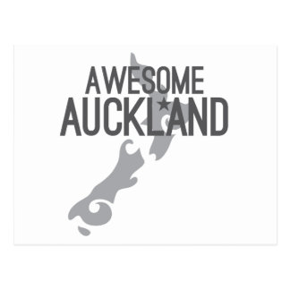 awesome auckland postcard