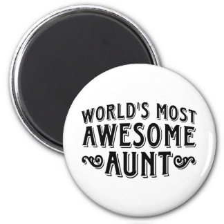 Awesome Aunt 2 Inch Round Magnet