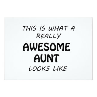 Awesome Aunt Card