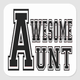 Awesome Aunt Design Square Sticker